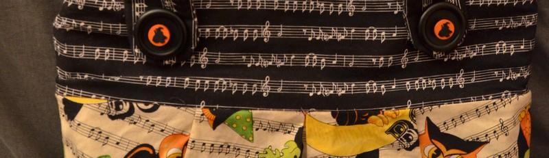 sac musique couture
