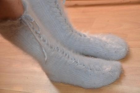 Mes chaussettes en angora