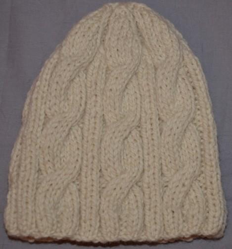 modele tricot bonnet torsade fille