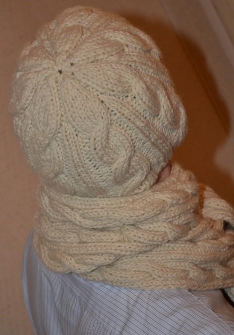 Ensemble bonnet/écharpe