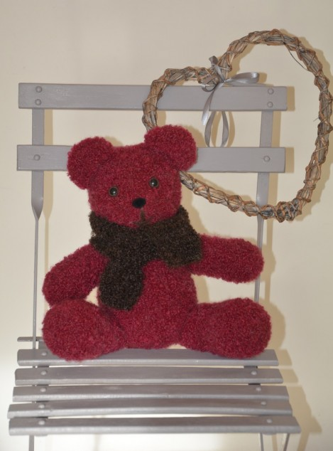 Echarpe ours tricot