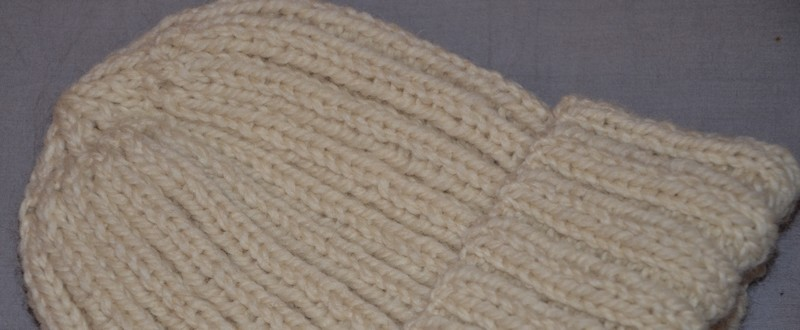 patron tricot bonnet homme facile