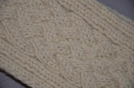 écharpe en laine à torsades