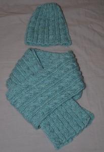Ensemble bonnet/ écharpe laine