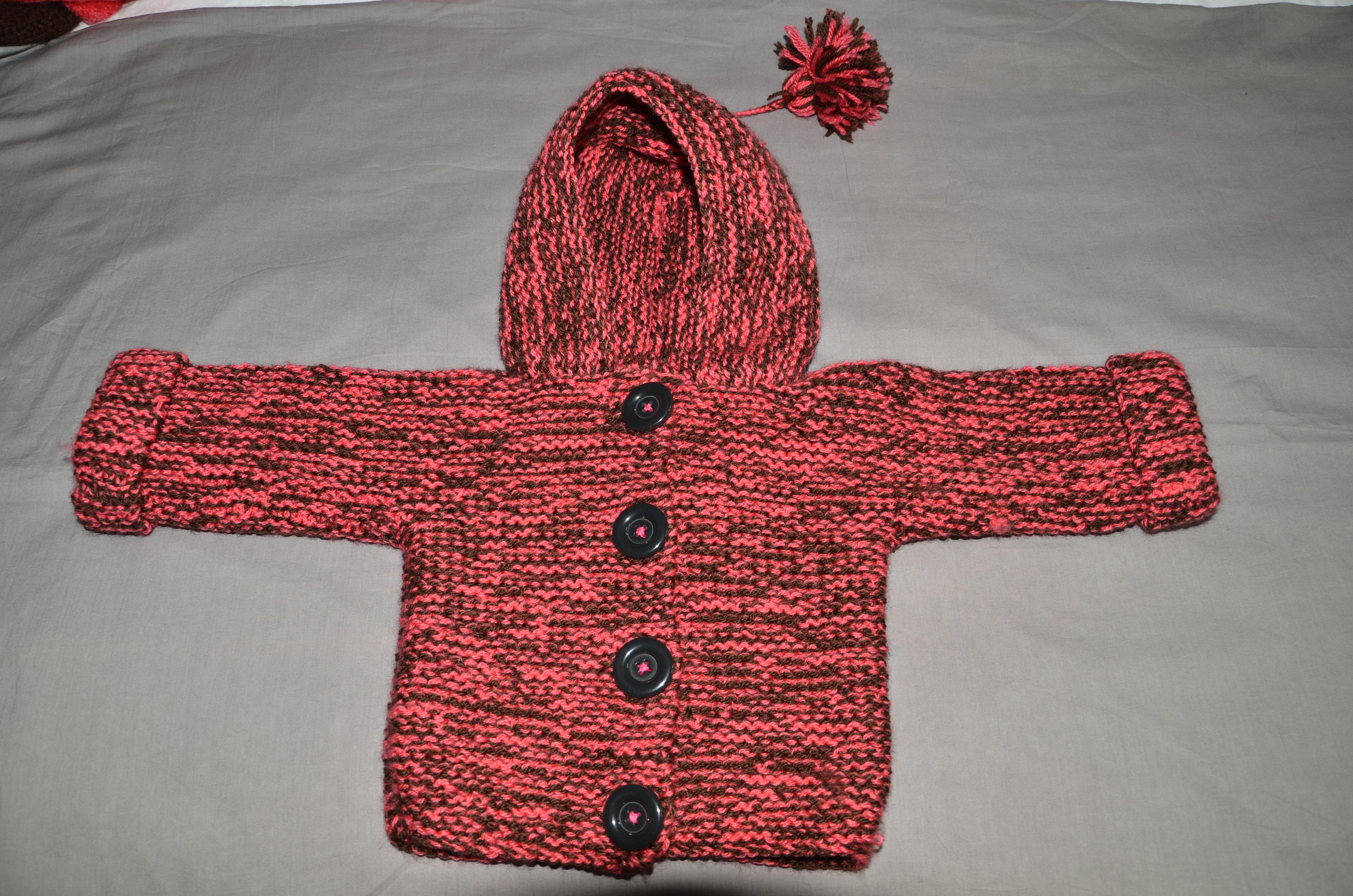 Modèle tricot bébé 18 mois pull