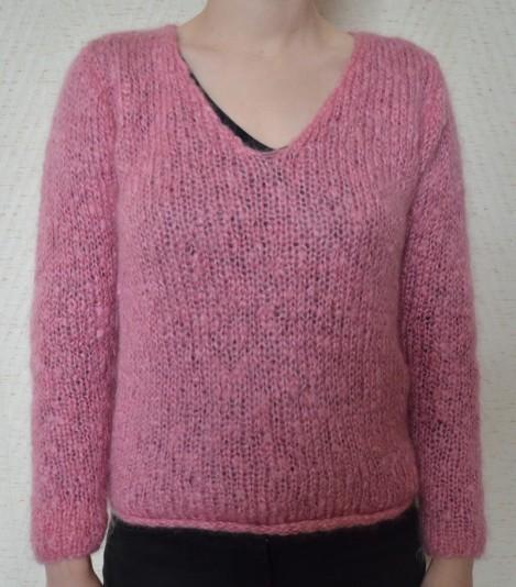 comment tricoter un col v