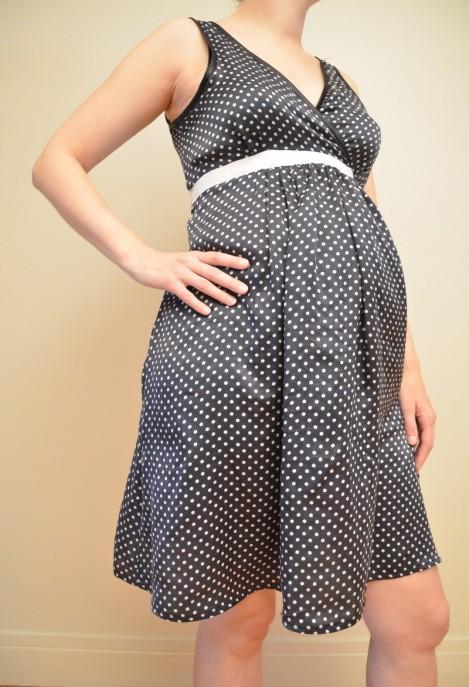 Robe de grossesse en soie