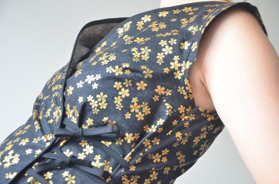 J'ai cousu une nouvelle Robe Portefeuille en Tissu Japonais !